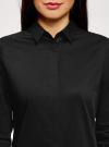 Рубашка базовая приталенного силуэта oodji #SECTION_NAME# (черный), 13K03003B/42083/2900N - вид 4