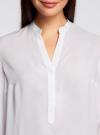 Блузка базовая из вискозы oodji #SECTION_NAME# (белый), 21412129-1/24681/1000N - вид 4