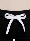 Брюки трикотажные с завязками oodji #SECTION_NAME# (черный), 16700045-2B/46949/2900N - вид 4