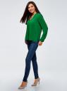 Блузка принтованная из вискозы oodji #SECTION_NAME# (зеленый), 11411049-1/24681/6B00N - вид 6