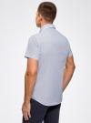 Рубашка принтованная с двойным воротником oodji #SECTION_NAME# (синий), 3L210053M/44425N/1075G - вид 3