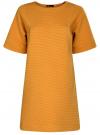 Платье в рубчик свободного кроя oodji #SECTION_NAME# (желтый), 14008017/45987/5200N