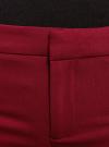 Брюки зауженные с декоративными молниями oodji #SECTION_NAME# (красный), 11706194/35589/4900N - вид 5