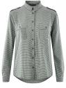 Блузка базовая из вискозы с нагрудными карманами oodji #SECTION_NAME# (зеленый), 11411127B/42540/6930G