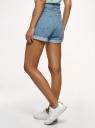 Шорты джинсовые mom fit с отворотами oodji для женщины (синий), 12807092-1/50059/7000W