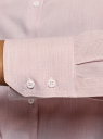 Рубашка приталенная oodji #SECTION_NAME# (розовый), 13K03001-3B/33081/4B10S - вид 5