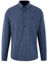 Рубашка хлопковая с нагрудным карманом oodji для мужчины (синий), 3L110329M/19370N/7970G