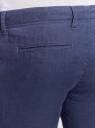 Брюки льняные с завязками oodji #SECTION_NAME# (синий), 2B200003M/44233N/7500N - вид 5