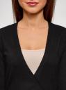 Жакет трикотажный с запахом oodji #SECTION_NAME# (черный), 63212495/46314/2900N - вид 4