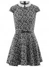Платье принтованное с воротником oodji #SECTION_NAME# (черный), 11900194/24808/2910F