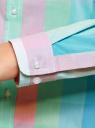 Блузка клетчатая прямого силуэта oodji для женщины (разноцветный), 11411131/46090/4165C