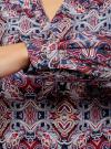 Блузка прямого силуэта с V-образным вырезом oodji #SECTION_NAME# (разноцветный), 21400394-3M/24681/2949E - вид 5