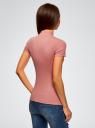 Водолазка хлопковая с коротким рукавом oodji для женщины (коричневый), 15E11011/48037/4B00N