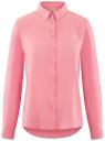Блузка базовая из вискозы oodji #SECTION_NAME# (розовый), 11411136B/26346/4100N