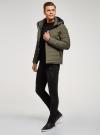 Куртка утепленная с капюшоном oodji #SECTION_NAME# (зеленый), 1B112036M/49421N/6600N - вид 6