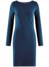 Платье трикотажное облегающего силуэта oodji #SECTION_NAME# (синий), 14001183B/46148/7901N