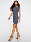 Платье трикотажное принтованное oodji для женщины (синий), 14001117-7/16564/7512G - вид 6