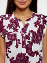 Блузка принтованная из вискозы с двумя карманами oodji #SECTION_NAME# (розовый), 21412132/24681/4C10F - вид 4