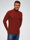 Свитер в рубчик с высоким воротом oodji для мужчины (красный), 4L307010M/47211N/4500M - вид 2