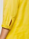 Рубашка хлопковая с воротником-стойкой oodji для женщины (желтый), 23L12001B/45608/5100N