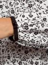 Блузка из струящейся ткани с контрастным воротником oodji #SECTION_NAME# (белый), 11411117-1B/49474/1229F - вид 5