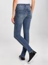 Джинсы slim fit базовые oodji для женщины (синий), 12103124-2/22306/7500W