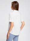 Блузка вискозная с короткими рукавами oodji #SECTION_NAME# (белый), 11411137B/14897/1229D - вид 3