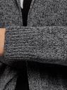 Кардиган меланжевый с капюшоном oodji #SECTION_NAME# (серый), 63207195/48106/2329M - вид 5