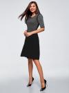 Платье с люрексом и расклешенной юбкой oodji для женщины (черный), 63912215/42963/2900X - вид 5