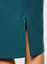 Юбка-карандаш из искусственной кожи oodji для женщины (зеленый), 18H02001/45059/6C00N