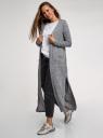 Джинсы mom fit с завышенной посадкой oodji для женщины (серый), 12105110-7/50010/2300W