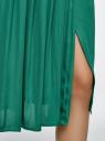 Юбка в складку с запахом oodji #SECTION_NAME# (зеленый), 13G00003B/42662/6D00N - вид 5