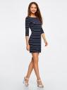 Платье трикотажное с принтом oodji для женщины (синий), 14001071-8/46148/7910S