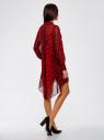 Платье шифоновое с асимметричным низом oodji #SECTION_NAME# (красный), 11913032/38375/4529A - вид 3