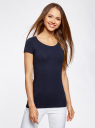 Комплект приталенных футболок (2 штуки) oodji для женщины (синий), 14701005T2/46147/7900N