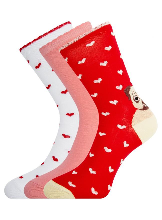 Комплект носков из 3 пар oodji #SECTION_NAME# (разноцветный), 57102901T3/47469/21