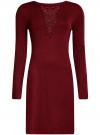 Платье с декоративной вставкой oodji #SECTION_NAME# (красный), 73912220/33506/4900N