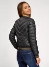 Куртка стеганая с круглым вырезом oodji для женщины (черный), 10203079/49439/2900B - вид 3