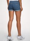 Шорты джинсовые базовые oodji #SECTION_NAME# (синий), 12807025-3B/46253/7500W - вид 3