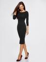 Платье облегающее с вырезом-лодочкой oodji #SECTION_NAME# (черный), 14017001-6B/47420/2900N - вид 6