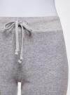 Брюки спортивные на завязках oodji для женщины (серый), 16701051B/47883/2000M - вид 4