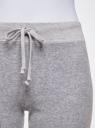 Брюки спортивные на завязках oodji для женщины (серый), 16701051B/47883/2000M