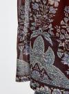 Блузка принтованная с воланами и стразами oodji #SECTION_NAME# (красный), 11411110/10466/4919F - вид 5