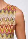 Топ из фактурной ткани с этническим узором oodji для женщины (розовый), 15F05004/45509/4152E - вид 5
