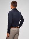 Рубашка приталенная с контрастной отделкой oodji #SECTION_NAME# (синий), 3B140006M/34146N/7929B - вид 3