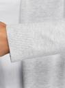 Кардиган удлиненный без застежки oodji для женщины (серый), 73212385-4B/45641/2000M