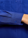 Блузка базовая из вискозы с карманами oodji #SECTION_NAME# (синий), 11400355-4/26346/7500N - вид 5