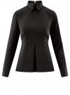 Блузка базовая с баской oodji #SECTION_NAME# (черный), 11400444B/42083/2900N