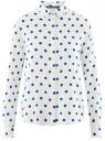 Блузка базовая из вискозы oodji #SECTION_NAME# (белый), 11411136B/26346/1275D