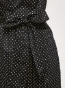 Платье с поясом и открытыми плечами oodji для женщины (черный), 11914008-1/13175N/2910D